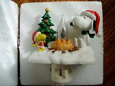 Peanuts Outdoor Christmas Campfire Flickering Nightlight Snoopy and Woodstock
