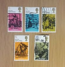 Complete GB used stamp set - 1970 Literary Anniversaries