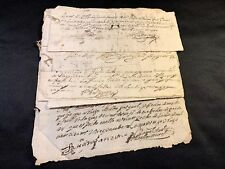 COLLECTION OF SIX PAPERS IN SPANISH 1700s