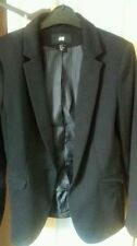 H&M Business Patternless Blazer Coats & Jackets for Women