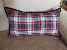 RALPH LAUREN Throw Toss Lumbar Pillow Holiday Tartan Stewart Plaid 14 x 26