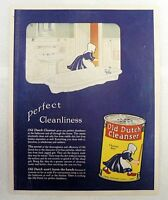 VINTAGE OLD DUTCH CLEANSER ONE PAGE AD WITH SWANS DOWN CAKE FLOUR ON BACK