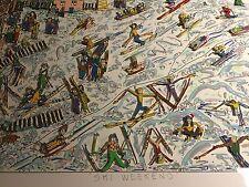 """James RIZZI: Original 3D Rarität """"SKI WEEKEND"""" von 1986, 150er Auflage, gerahmt"""