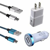 4Kits Car Wall Charger Cable for Samsung Galaxy S7 S6 Edge+Note 5 J3 J5 J7 J8 J9