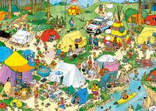 Puzzle Camping im Wald, 2000 Teile, Cartoon, Haasteren, Zelten, Freizeit, Jumbo