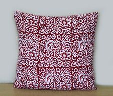 """Indian Mandala Red Floral Print Home Decorative 16""""Cushion Cover Pillow Cover"""