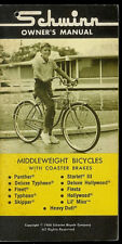 1968 Schwinn Middleweight Panther Typhoon Bike Bicycle Factory Owner's Manual