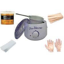 Depilatory Wax Kit Heater Wax Pot Spatula Strips Hair Removal Treatment