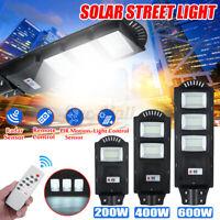 200/400/600W LAMPIONE STRADALE LED PANNELLO SOLARE CON TELECOMANDO