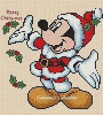 Counted Cross Stitch MICKEY'S MERRY CHRISTMAS - COMPLETE KIT  #10-22