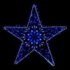 bluewhite led flashing star outdoor christmas rope light decoration 105x102cm