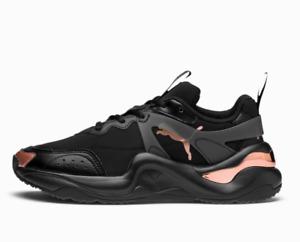 PUMA Rise Neoprene Womens UK 4.5 EU 37.5 Black & Rose Gold Sneakers Trainers