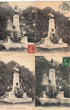Lot 4 cartes postales anciennes CHARTRES monument statue noel ballay
