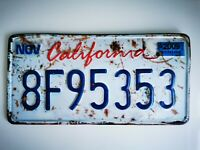 USA CALIFORNIA REPLICA LICENCE NUMBER PLATE NEW