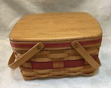 Rare Longaberger Cake Basket Made By Larry Longaberger Signed By 11 Family