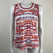 Lucy Tech Women's S Pink Purple Orange Printed Workout Active Yoga Tank Top