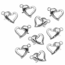 20/50Pcs Silver Gold Plated Heart Lobster Clasps Hooks Connector Finding 13x9mm