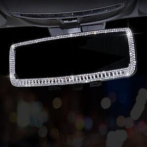 Sedan Car SUV Rearview Mirror Sparkle Diamond Decorative Accessories Universal