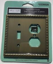 Farmhouse Rustic Aged Brass Wall Switch Plate Outlet Cover Toggle Duplex Combo