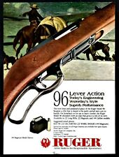 1998 Ruger 96 Lever-Action .22 Long Magnum or.44 Rifle Print Ad
