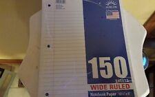Wide rule loose leaf filler paper 150 sheets