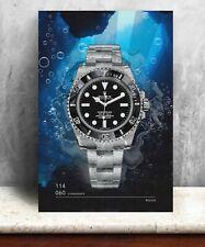Rolex 114060 Submariner watch print. Bold graphic art on canvas