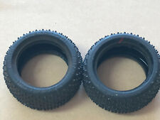"""NEW Team Losi LOSA-7364R IFMAR Stud Rear Buggy Tires 2.2"""" Red Compound Dirt"""