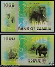Zambia Elephant Commemorative Polymer Banknote 1000 Kwacha 2015 PRIVATE FANCY