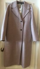NWT JIL SANDER Lavender wool 3/4 Length Coat, Sz 38FR/ Fits Like a US 6  $3440