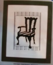 "NEW VERVACO "" BAROK CHAIR 1"" COUNTED CROSS STITCH KIT- Comb. Shipping Offered"