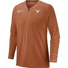 Nike Men's Dri-Fit Texas Longhorns Coach's 1/2 Zip Pullover Top Sz. L NEW 35900X