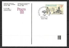 1988 Czechoslovakia printed postcard for Stamp Exhibition in Prague