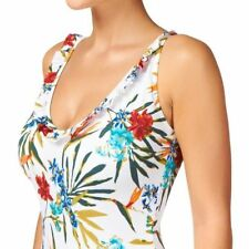 Polyester Floral One-Piece Swimwear for Women