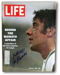 """Joe Namath Signed Autographed LIFE Magazine 9/20/69 """"Bull Story!"""" JSA V68017"""