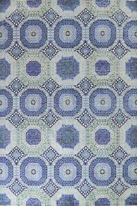Vegetable Dye Mamluk Geometric Oriental Area Rug Hand-knotted Wool 9'x12' Carpet