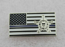 USSS Lapel Pin Secret Service Subdued Thin Blue Line Lapel Hat Pin