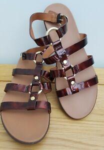 Brand New Tortoiseshell Patent HOOPLA Fitflops Gladiator Style Sandals Size 5