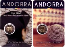 IN STOCK - ANDORRA 2 x 2 Euro 2016 - New Reform + Radio and TV - BU