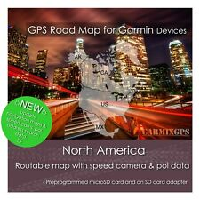 2020 N America City Road Maps - microSd-Sd Card for Garmin Gps Navigator