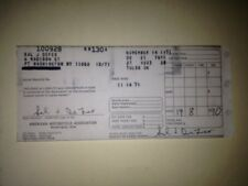 Sal Defoe Ghost CZ $90 Winnings Receipt TRANS-AMA 1971 MotoCross Races Port Wash