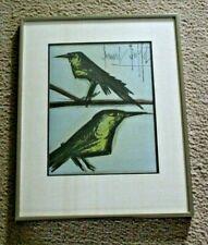 "ORIGINAL BERNARD BUFFET SIGNED COLOR LITHOGRAPH ""THE LOVE BIRDS"" FRAMED WITH COA"