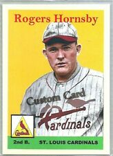 ROGERS HORNSBY ST. LOUIS CARDINALS 1958 STYLE CUSTOM MADE BASEBALL CARD BLANK