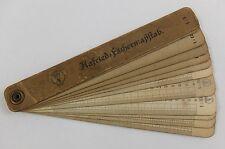 Antik original  Hafried Fächer Maßstab Masstab Lineal Messen