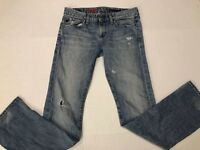 AG Adriano Goldschmied The Tomboy Straight Leg Jeans Sz 28R Women's Distressed