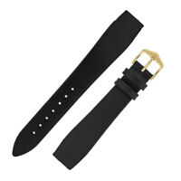Hirsch DIAMOND CALF Open Ended Calf Leather Watch Strap in BLACK for FIXED BARS