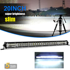 Dual Row 20inch 300W Straight Led work Light Bar Spot Flood Offroad SUV TRUCK 22