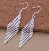Stunning 925 Sterling Silver Drop Dangle Earrings New Fashion Women Jewelry