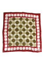 "Vera Neumann Vintage MCM Mid Century Scarf Silk Wraps Circle Dot Geo Print 22"""