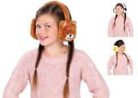 Kids Animal Earmuffs Winter Fleece Headband Faux Ear Muffs Warm & Soft Fluffy