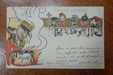 CARTOLINA AFFAIRE DREYFUS POT BOVILLE VIAGGIATA DEL 1899 SUBALPINA BBB